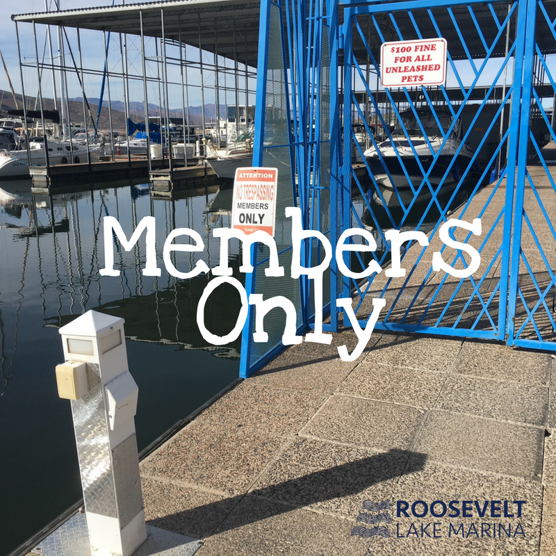 Blue Gates are for Marina Members Only